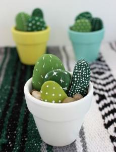 Hand-Painted Mini Cactus